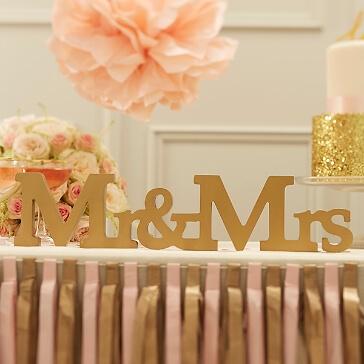 Geschenkidee Holzschriftzug Mr & Mrs
