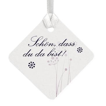 """Geschenkkaertchen """"Purple Passion"""" mit lila Ornamenten"""