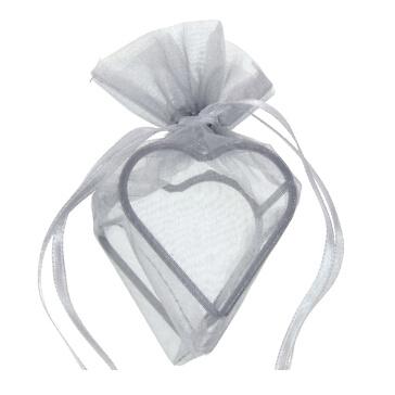 Geschenksäckchen Herz, grau