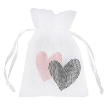Geschenksäckchen zur Hochzeit, rosa - süßes Geschenksäckchen zur Hochzeit