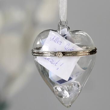 Geschenkverpackung für Geldgeschenke zur Hochzeit Glasherz