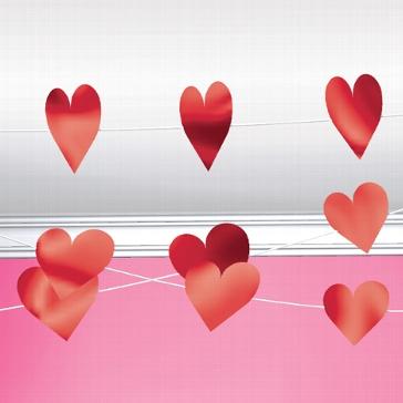 Herz Girlande