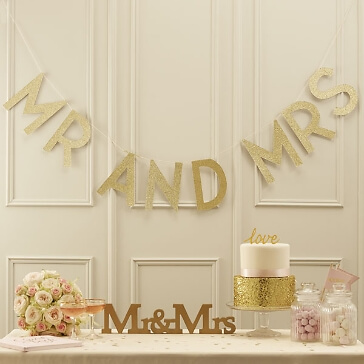 Girlande Mr & Mrs