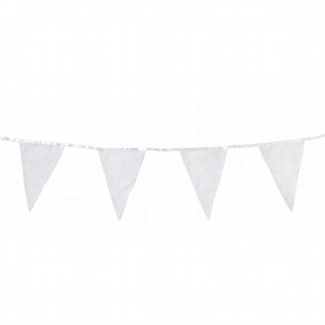 Wimpelkette in Weiß zur Hochzeit
