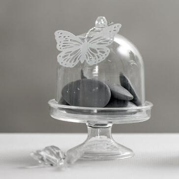 Dekoglocke für Gastgeschenke, transparent, 4 St. - Deko-Glasglocke