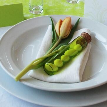 Glasröhrchen für Gastgeschenke, kiwi