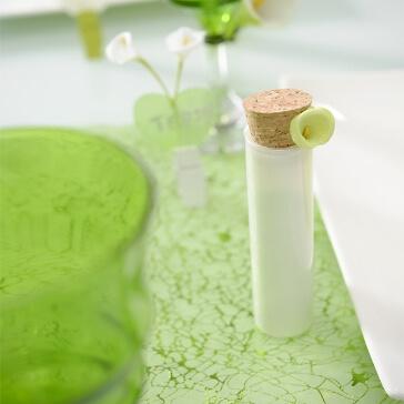 Glasröhrchen für Gastgeschenke, weiß