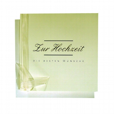 """Gratulationskarte """"Zur Hochzeit"""""""