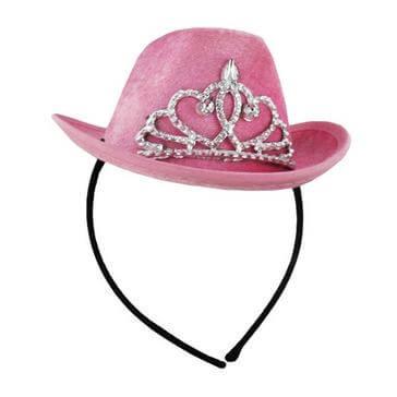 Haareif mit Cowboyhut in Pink