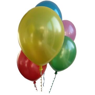 50 Helium-Ventile mit Band in bunt