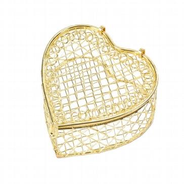 Herzschatulle Vintage gold 2 St. - für Gastgeschenk für Hochzeit