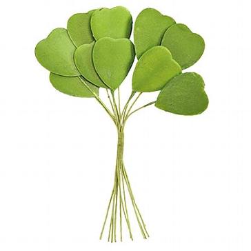 Tischdeko Herzstrauß grün