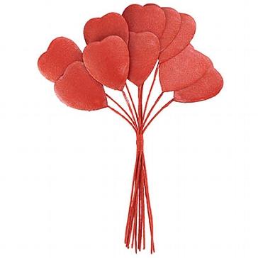 Tischdeko Herzstrauß rot