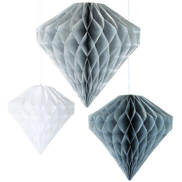 Papierfächer in Silber