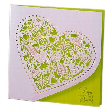 """Einladung zur Hochzeit """"Alessa"""" in grün"""
