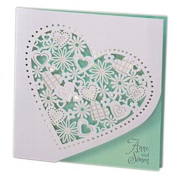 """Hochzeitseinladung """"Alessa"""" in mint"""