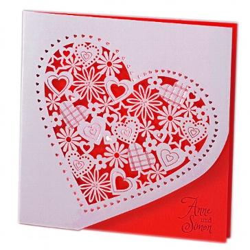 """Einladung zur Hochzeit """"Alessa"""" in rot"""