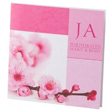 """Hochzeitseinladung """"Alexia"""" - Einladung mit Kirschblüten zur Hochzeit"""
