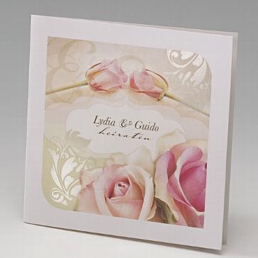 Einladungskarte Hochzeit Rose