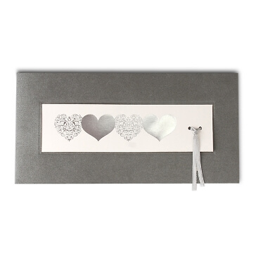 Einladung zur Hochzeit in Grau
