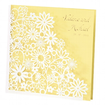 Einladung Hochzeit Dalia gelb