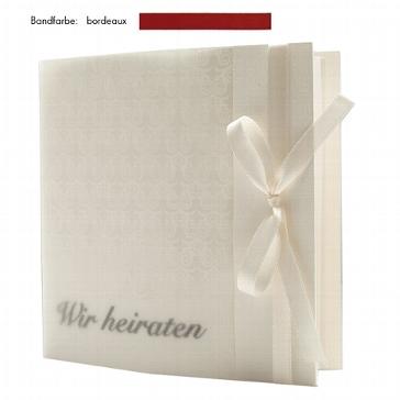 """Einladungskarte """"Elegance"""" bordeaux zur Hochzeit"""