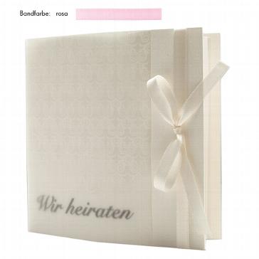 """Hochzeitseinladung """"Elegance"""" rosa zur Hochzeit"""