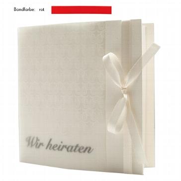 """Hochzeitseinladung """"Elegance"""" rot zur Hochzeit"""