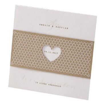 Einladungskarte zur Hochzeit Elli