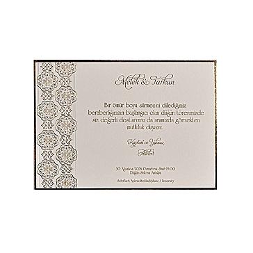 Hochzeitseinladung Iona mit goldener Verzierung