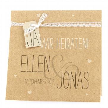 Hochzeitseinladung Judy - Naturpapier