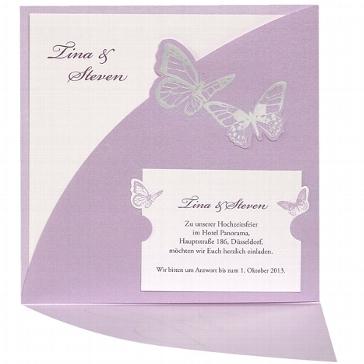"""Hochzeitseinladung """"Julia"""" - Zusatzkarte"""