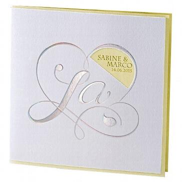 Einladung Hochzeit Kara gelb