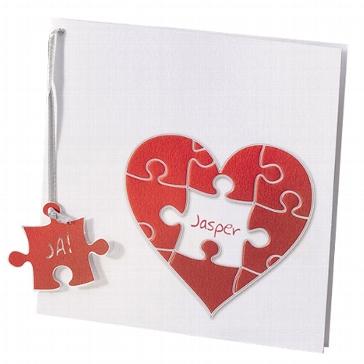 """Hochzeitseinladung """"Kathleen"""" - Einladung mit Puzzle zur Hochzeit"""