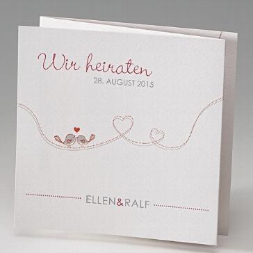 Hochzeitseinladungskarte Keiki