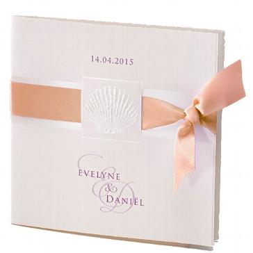 """Einladungskarte zur Hochzeit """"Lely"""" in cognac"""