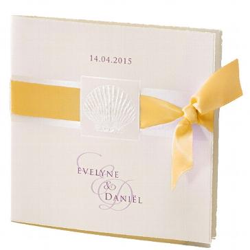 """Einladung zur Hochzeit """"Lely"""" in gelb"""