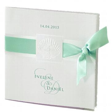 """Einladung zur Hochzeit """"Lely"""" in mint"""