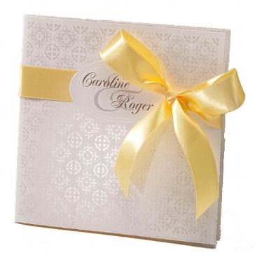"""Einladungskarte Hochzeit """"Lizzy"""" in gelb"""