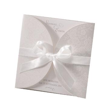 Hochzeitseinladung Louise 2 Design - im schönen Blumenmuster