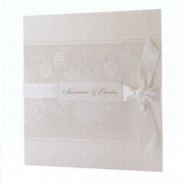 Hochzeitseinladung Louise - Blumenmuster