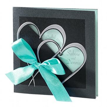 Einladungskarte zur Hochzeit Martina in mint