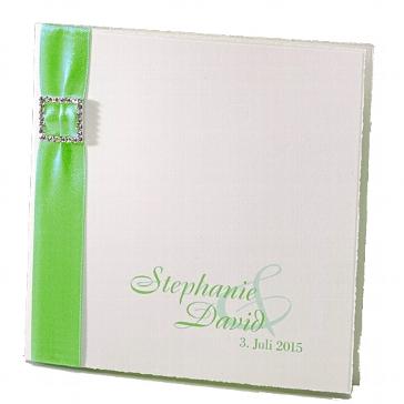 """Einladungskarte zur Hochzeit """"Noemi"""" in grün"""