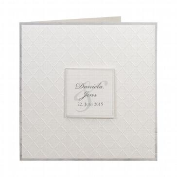 """Hochzeitseinladung """"Sherry"""" - weiße Einladungskarte"""