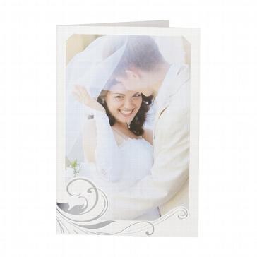 Hochzeitseinladung Terry - cremefarbene Hochzeitseinladung mit Foto