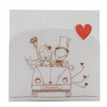 """Hochzeitseinladung """"Ulrike"""" - Einladung mit Comicmotiv zur Hochzeit"""