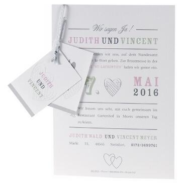 """Einladungskarte """"Zoey"""""""
