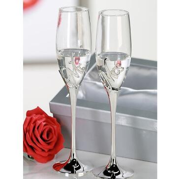 Hochzeitsgeschenk Champagnergläser-Set Mr & Mrs