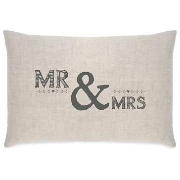 """Hochzeitsgeschenk Kissen """"Mr & Mrs"""""""