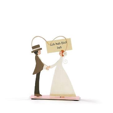 Geschenkidee Kartenhalter Brautpaar zur Hochzeit